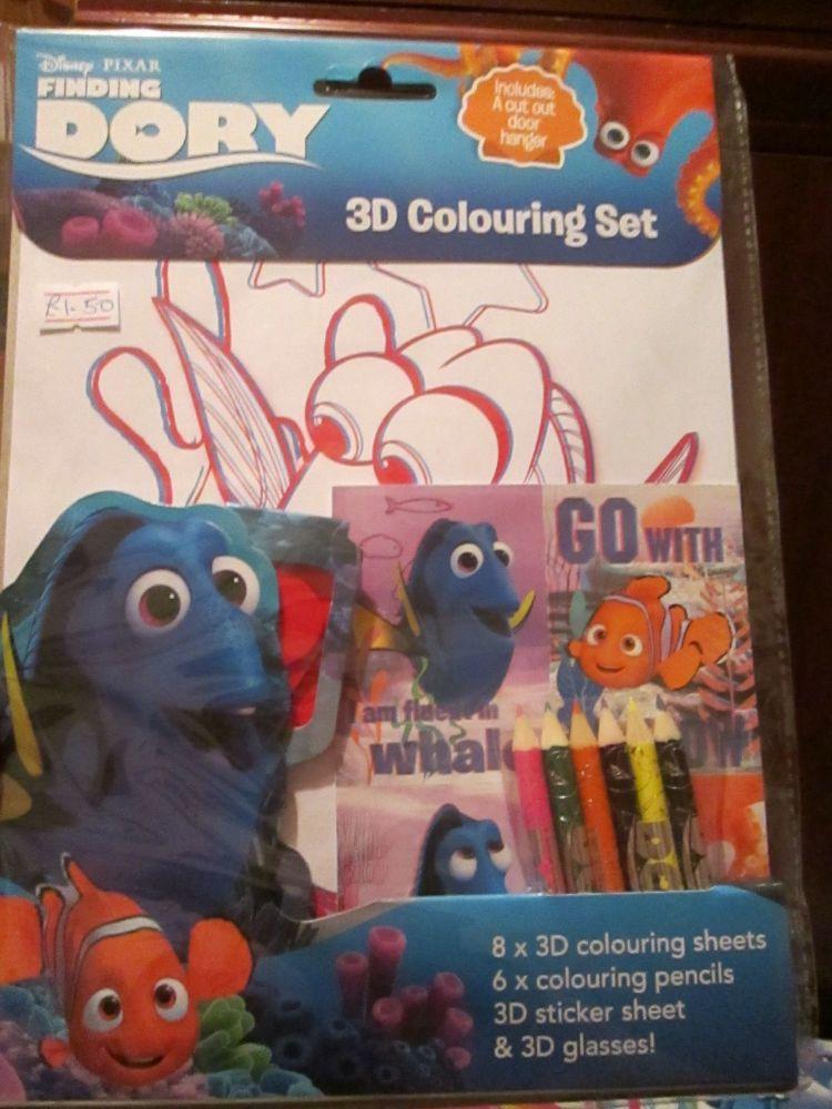 Disney Pixar Finding Dory - Licensed 3D Colouring Set
