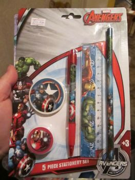 Marvel Avengers - Licensed 5pc Stationery Set