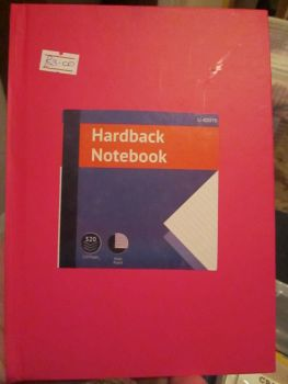 Pink 320pg Hardback A5 Lined Notebook