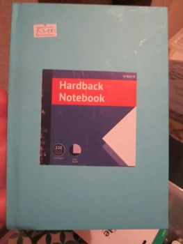 Blue 320pg Hardback A5 Lined Notebook