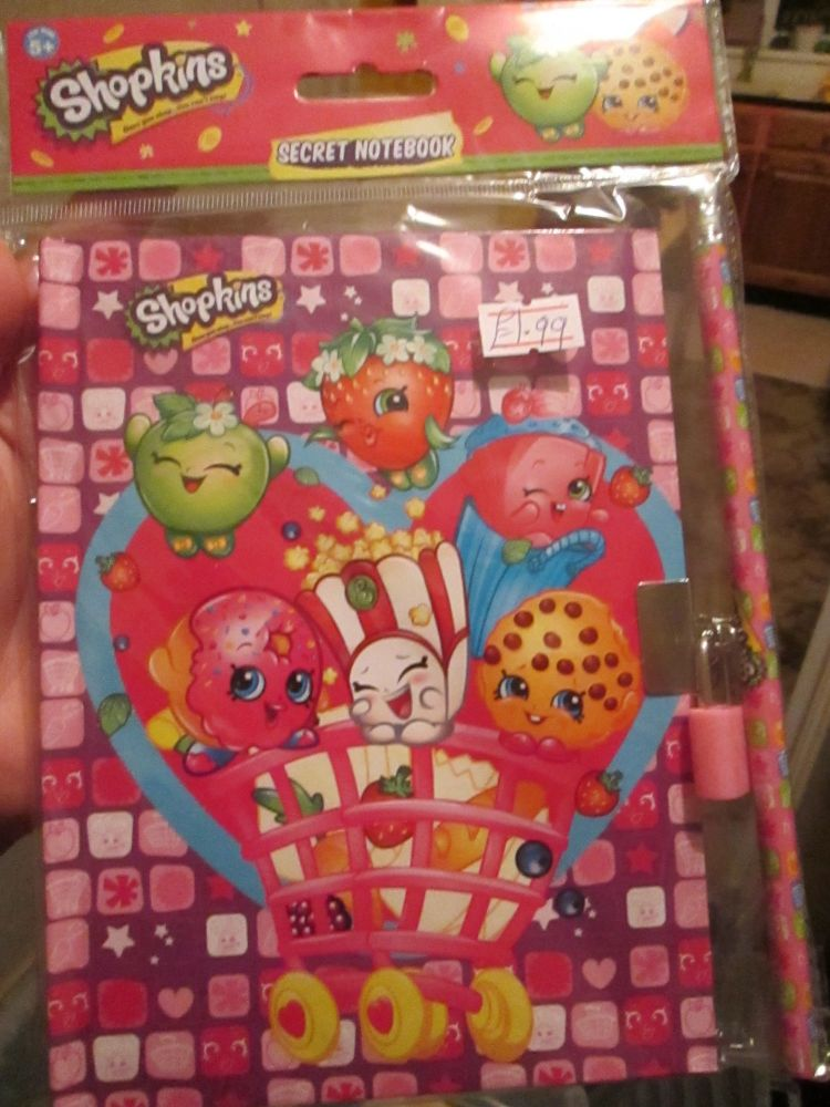 Patterned Shopkins Secret Notebook Set