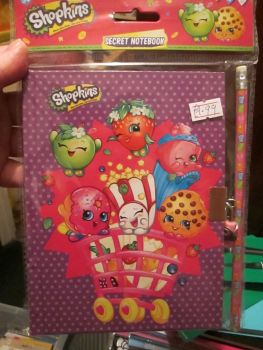 Dotted Shopkins Secret Notebook Set