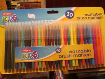 Artpac 30 Washable Brush Markers