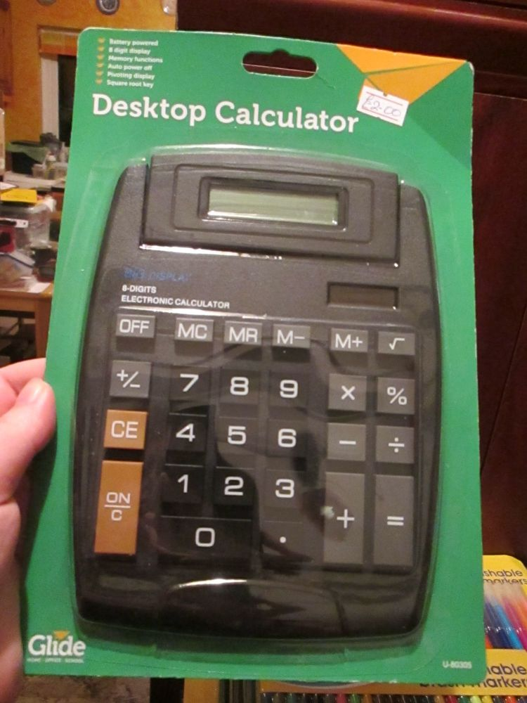 Black Desktop Calculator (Large) - Glide