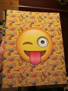Emoticon Smiley A4 Two Hole Ring Binder Hardback