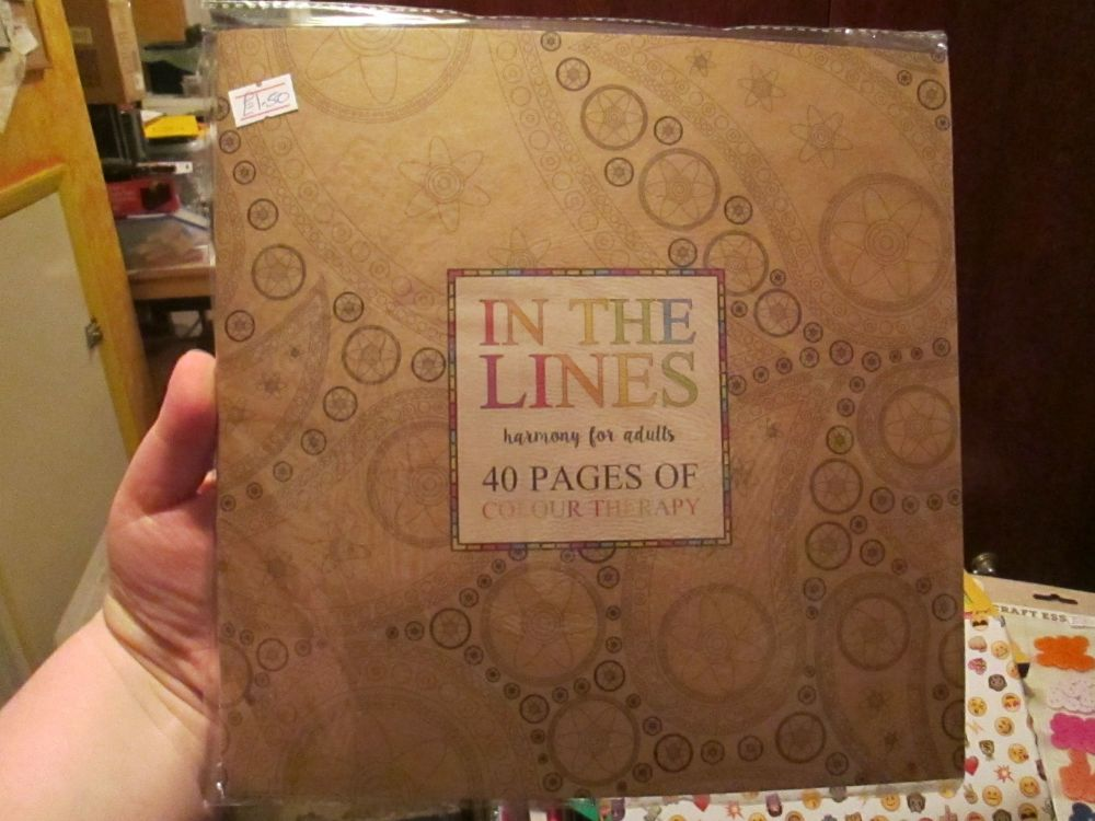 Brown - In The Lines - Harmony For Adults 40pg Colour Therapy