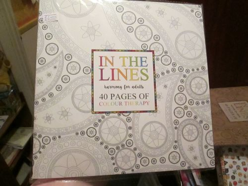 White - In The Lines - Harmony For Adults 40pg Colour Therapy