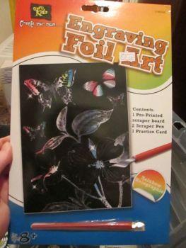 Butterflies - Crafty Kidz Engraving Foil Art
