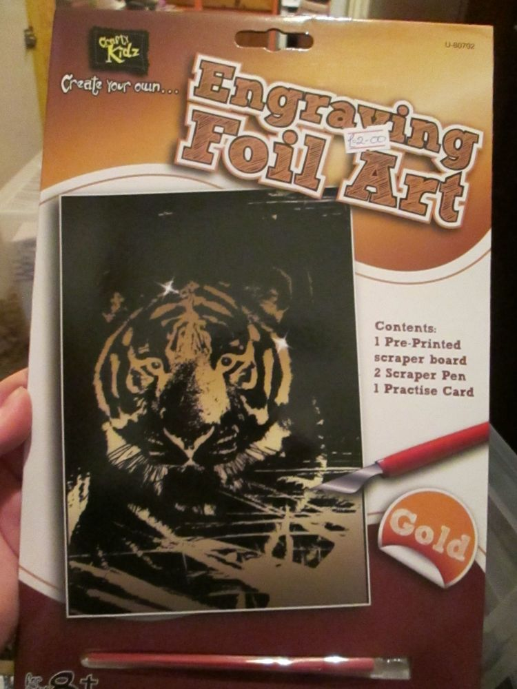 Tiger - Crafty Kidz Engraving Foil Art