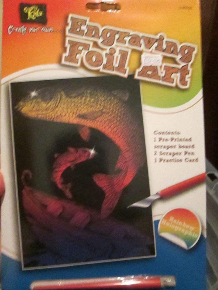 Trout Fish - Crafty Kidz Engraving Foil Art