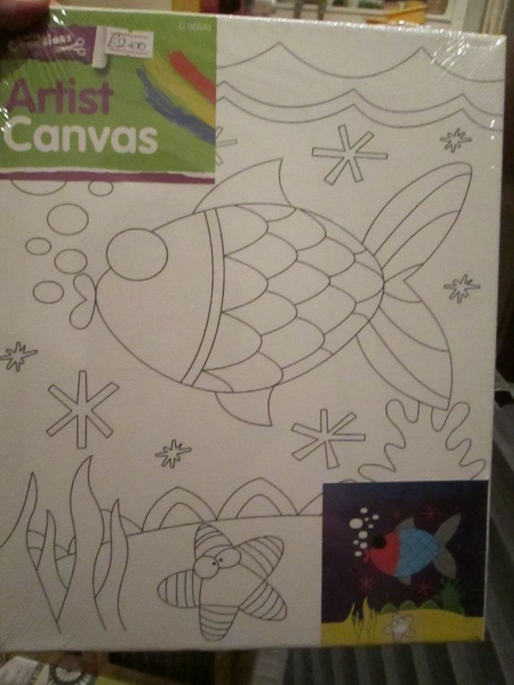 Fish - Crafty Creations - Artists Canvas