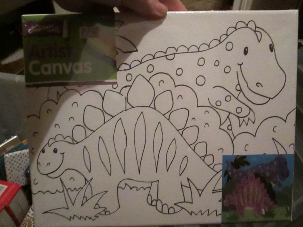 Dinosaur - Crafty Creations - Artists Canvas