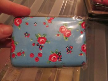 Blue Floral 6 Pocket Aluminium Credit Card Case