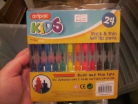 Artpac 24 Tips Thick & Thins Felt Pens
