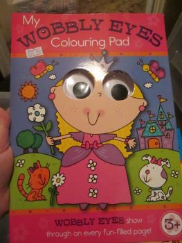Pink - My Wobbly Eyes Colouring Pad