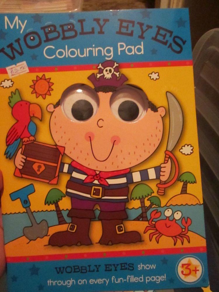 Blue - My Wobbly Eyes Colouring Pad