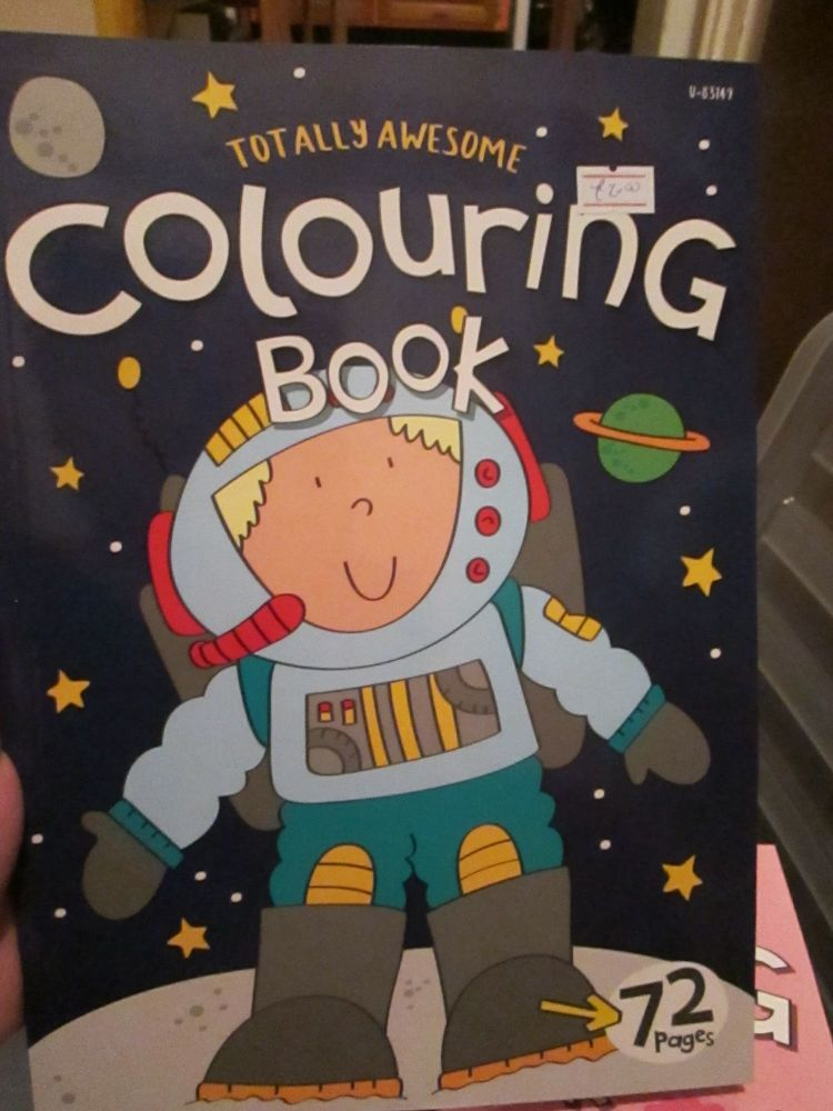 Dark Blue 72pg Totally Awesome Colouring Book