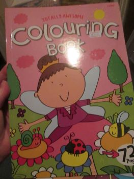 Pink 72pg Totally Awesome Colouring Book