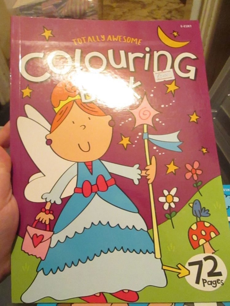 Purple 72pg Totally Awesome Colouring Book