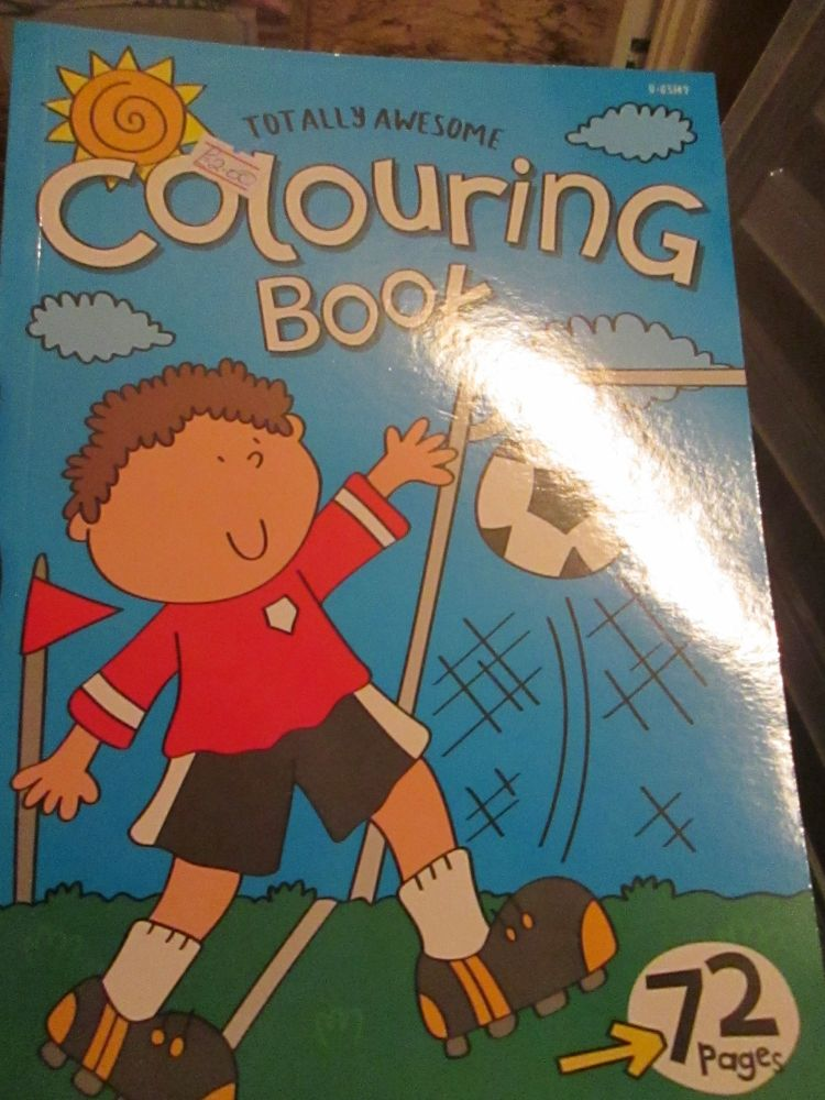 Light Blue 72pg Totally Awesome Colouring Book