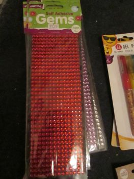 Red - Crafty Creations - Self Adhesive Gems