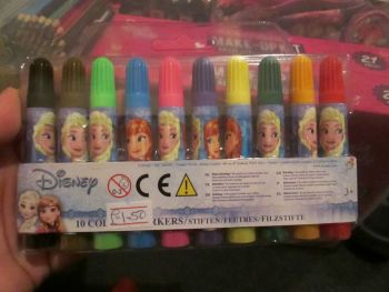 Disney Frozen - Licensed 10 Chunky Markers