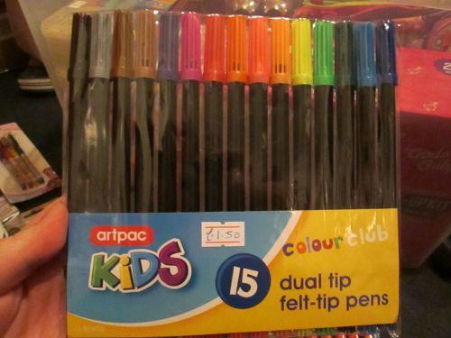 Artpac 15pc Dual Tip Felt Pens