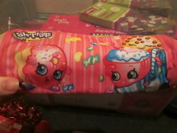 Pink Shopkins Tube Pencil Case