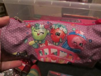 Purple Shopkins Tube Pencil Case