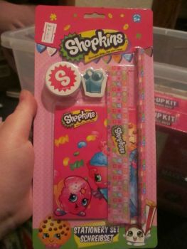 Pink Shopkins 5pc Stationery Set