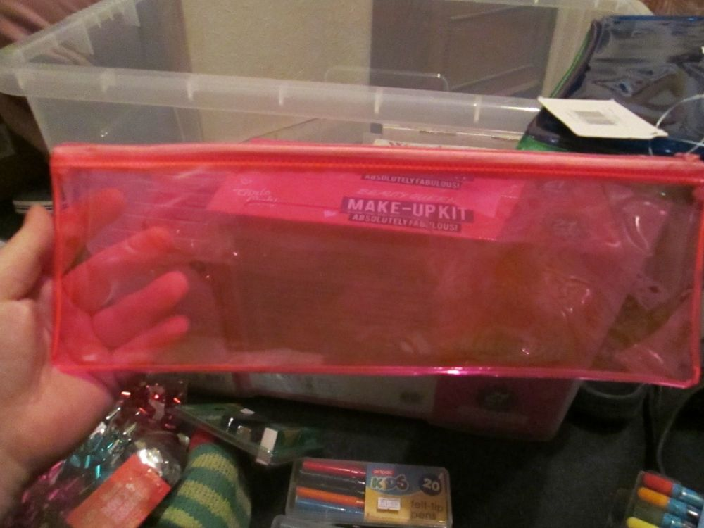 Pink PVC Flatline Pencil Case - Glide