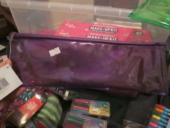 Purple PVC Flatline Pencil Case - Glide