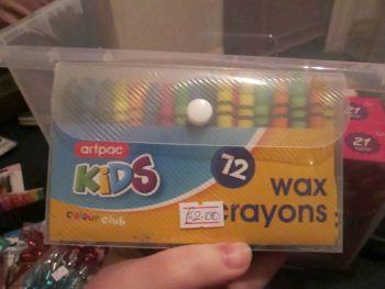 Artpac 72pc Wax Crayons