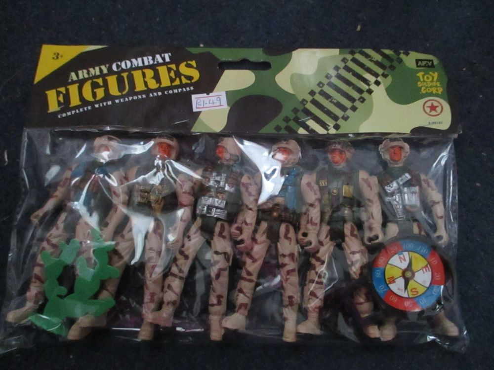 6pc Army Combat Figures Play Set