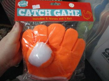 Orange - Two Glove Catch Game - Its So Fun