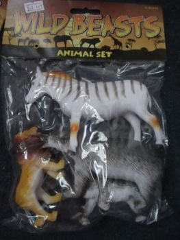 Zebra Bag - Wild Beasts Playset