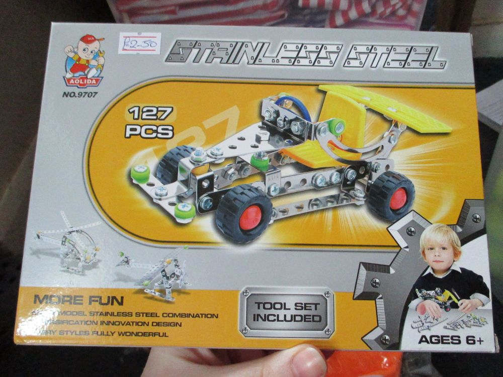 Racer Car Kit  127pc - Stainless Steel