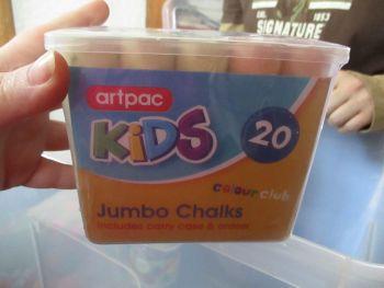 Artpac 20 Jumbo Chalks Tub