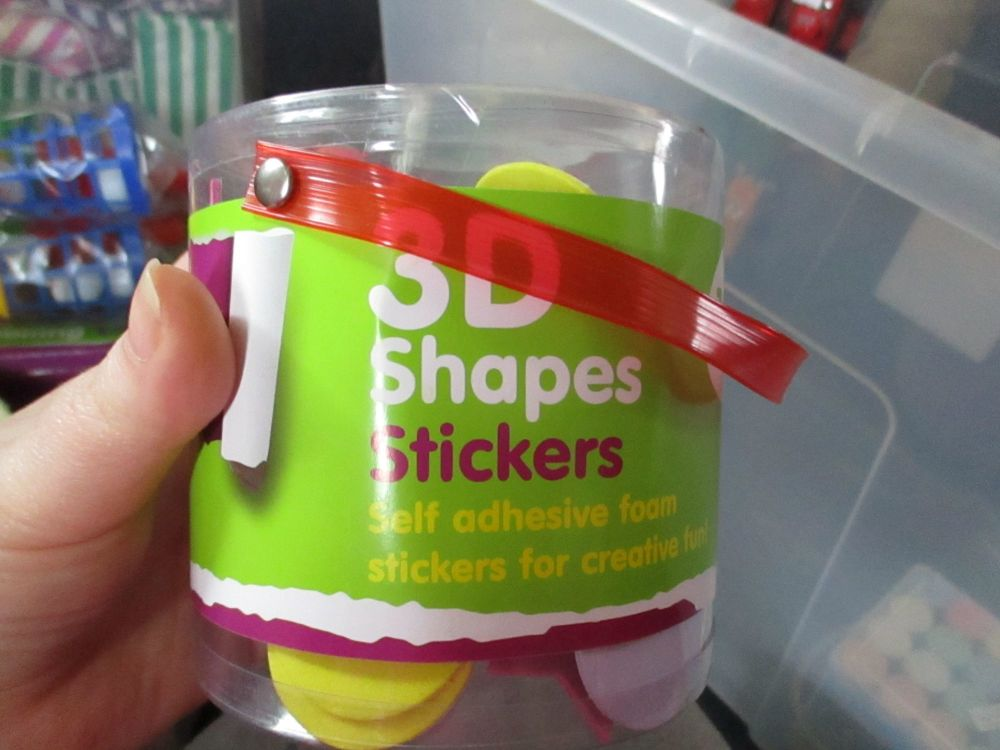 Shapes - Crafty Creations 3D Foam Self Adhesive Stickers