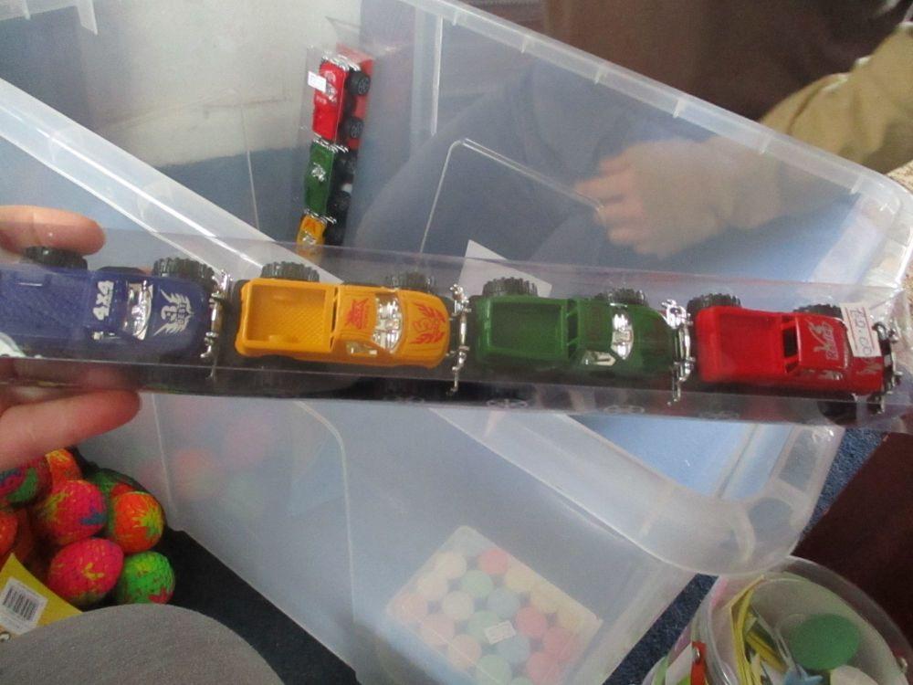 Hot Rods 4pc Monster Trucks Set