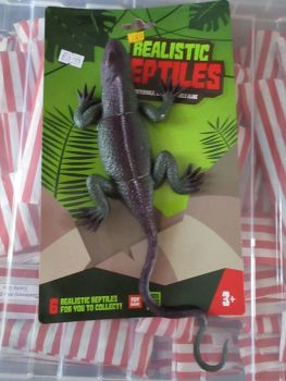 Black / Green Lizard - Stretchy Rubbery- Realistic Reptiles