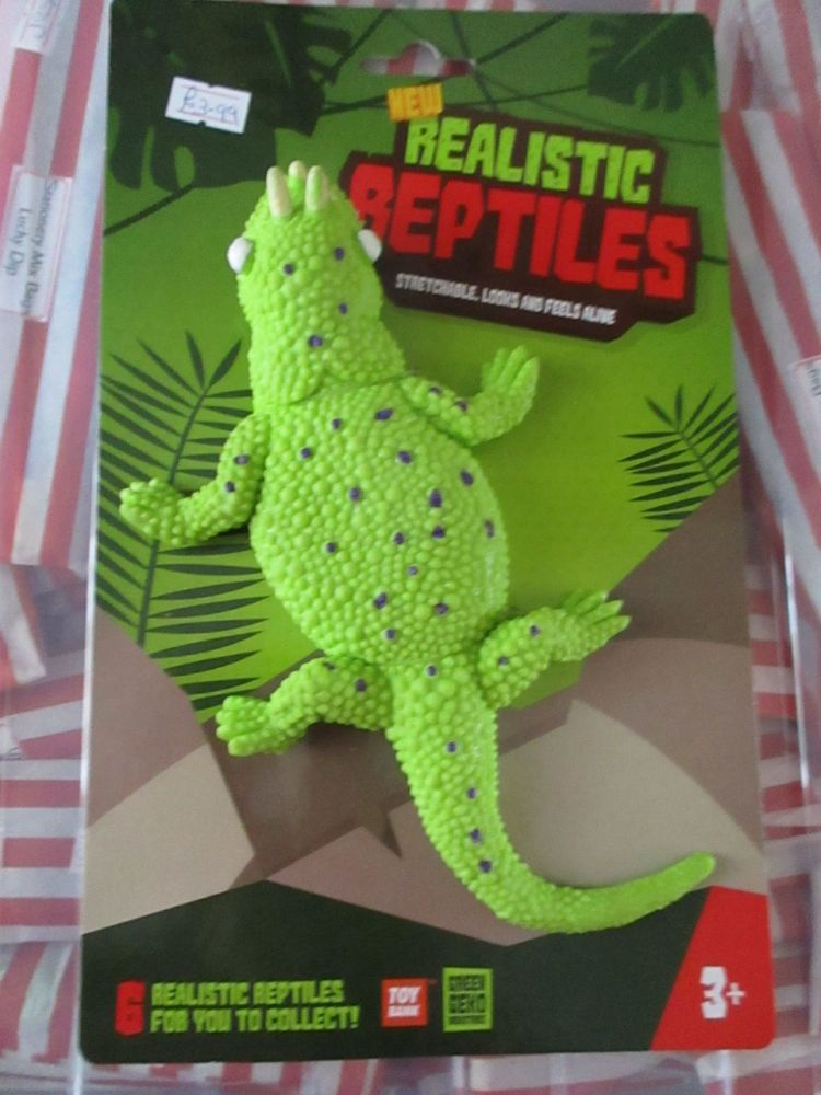 Green Horned Lizard - Stretchy Rubbery- Realistic Reptiles