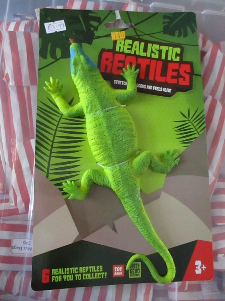 Green / Blue Lizard - Stretchy Rubbery- Realistic Reptiles