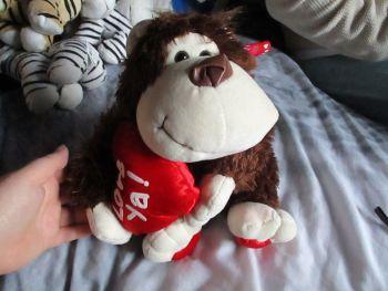 Brown Love Ya Monkey - Cupids Corner - Soft Toy
