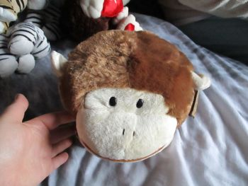 Brown Monkey Ball Cushion - Soft Sensations - Soft Toy