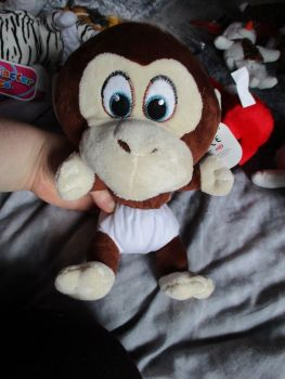 Brown Chimp Monkey with White Nappy - Character Co - Soft Toy