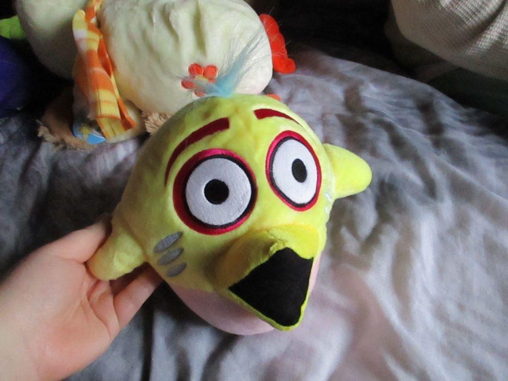 Yellow Bird Brain - Bird Brainz - Soft Toy