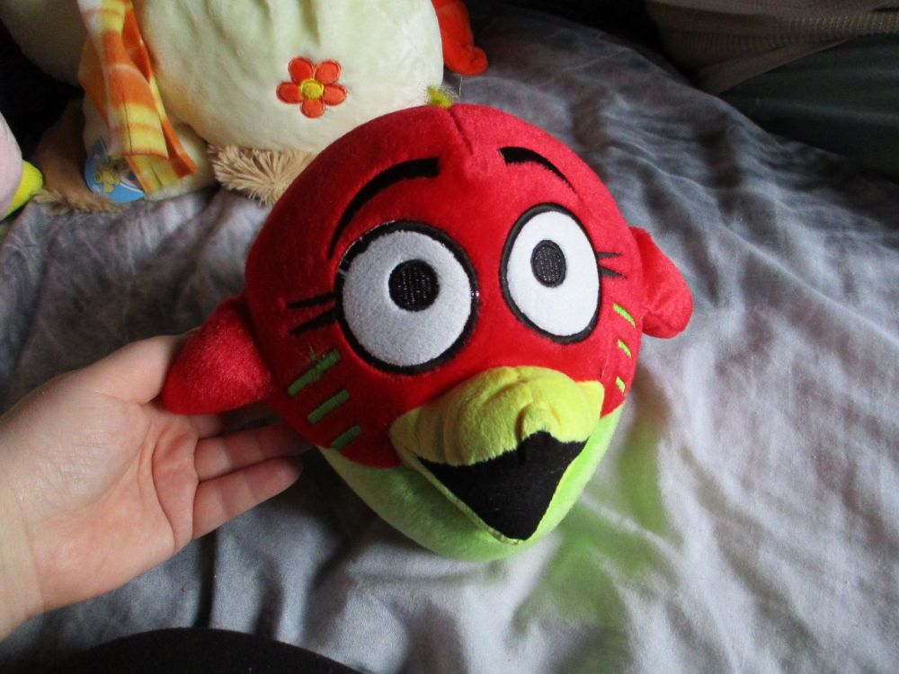 Red Bird Brain - Bird Brainz - Soft Toy