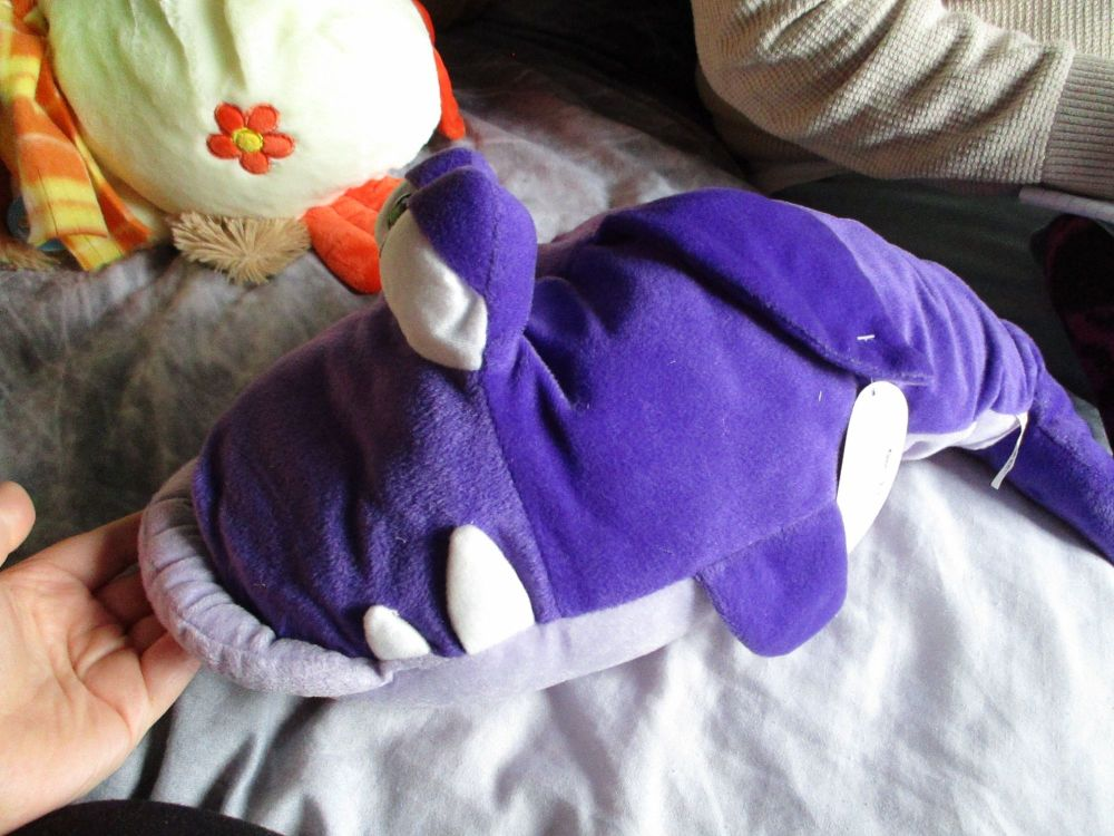 Purple Cartoon Shark - Character Co - Soft Toy