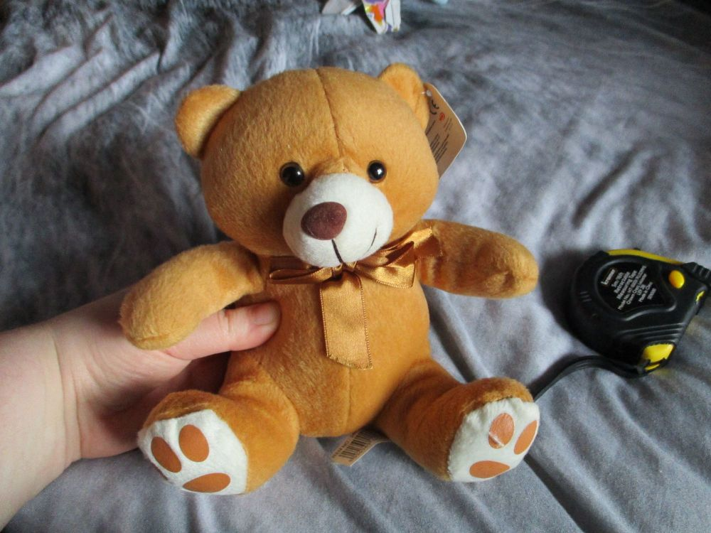 Caramel Brown Bear with Ribbon - Character Co - Soft Toy